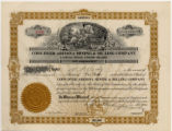 Capital stock certificate, Cody-Dyer Arizona Mining & Milling Company