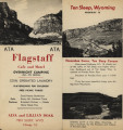 Brochure for Flagstaff Cafe and Motel at Ten Sleep, WY
