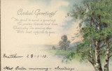Easter Postcard with biblical verse, 1/28/1910