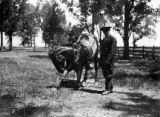 Frederick Garlow Sr. with a horse