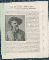 Biographical article about William F. Cody