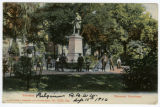 Statue of Henri Vieuxtemps in Verviers, Belgium postcard