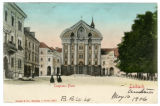 Congress square in Laibach, Austria postcard